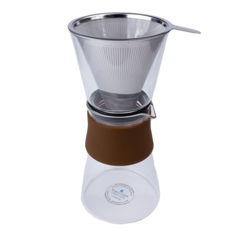 Amsterdam Pour Over Coffee Maker with Stainless Steel Filter - 28.7 fl oz
