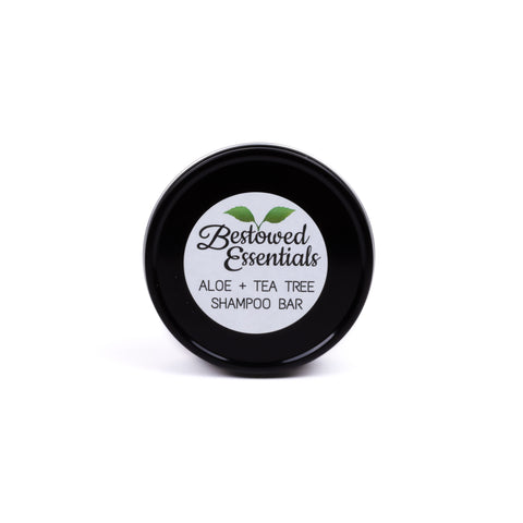Bestowed Essentials Aloe & Tea Tree Shampoo Bar in Metal Tin
