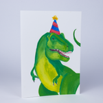 Birthday Dino Eco-Friendly Greeting Card with Envelope - Blank Inside