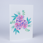 Flowers Eco-Friendly Greeting Card with Envelope - Blank Inside