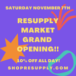 Nov 7th - Grand Opening Celebration!! 10% Off All Purchases In-Person & Online All Day!