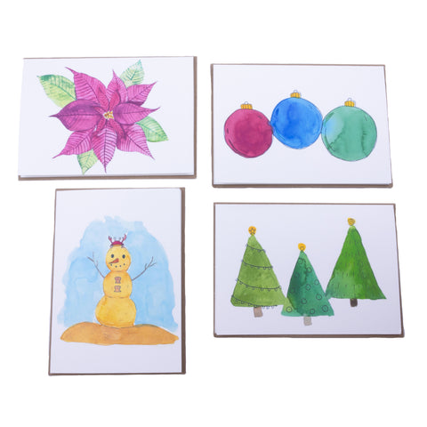 Holiday Eco-Friendly Greeting Card with Envelope - Blank Inside