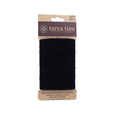 Natural Rubber & Organic Cotton Hair Ties - 27 pack