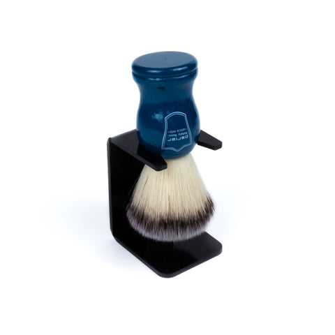 Parker Blue Handle Synthetic Bristle Shaving Brush