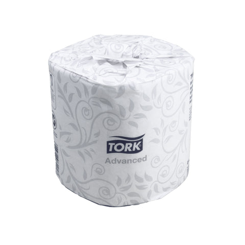 Tork Advanced Toilet Paper Made from 100% Recycled Paper Individually Wrapped in Paper - 500 2-Ply Sheets