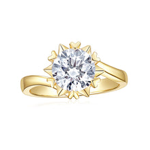Load image into Gallery viewer,  Moissanite Engagement Ring DEF Color in Solid 14k White Gold