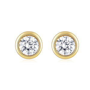 Moissanite Stud Earrings, DEF Color Brilliant Round Cut Diamond Earrings for Women