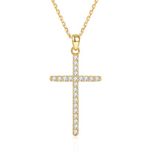 Load image into Gallery viewer, Moissanite Necklace for Women Teen Girls,Set 20 PCS Diamonds on Cross,Love Heart Pendant Birthday Gifts for Women