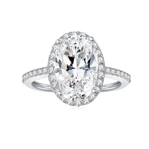 Sparkling Moissanite diamond Ring in 14K White Gold