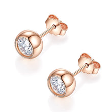 Load image into Gallery viewer, Moissanite Stud Earrings, DEF Color Brilliant Round Cut Diamond Earrings for Women