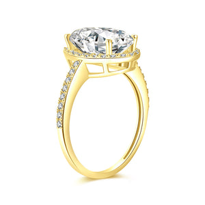 Moissanite vintage engagement rings 18K Yellow Gold Center Moissanite 12*8MM*1-4.5ct