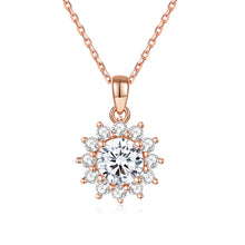 Load image into Gallery viewer, 14k Yellow Gold Oval Moissanite and Diamond Pendant Necklace for Women