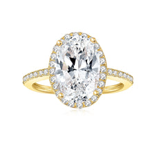 Load image into Gallery viewer, Sparkling Moissanite diamond Ring in 14K White Gold