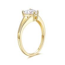 Load image into Gallery viewer, 14K Rose Gold Elegant Split Converge Shank Engagement Ring w/Round Forever One Moissanite Center