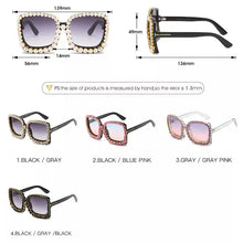 Load image into Gallery viewer, Livmall Womens Crystal Fashion Sunglass