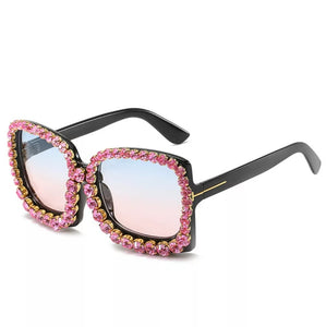 Livmall Womens Crystal Fashion Sunglass