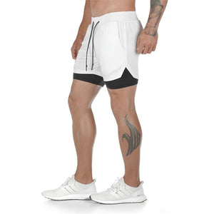 Livmall Men's 2 in 1 shorts