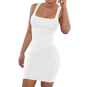 Livmall Women's Casual Backless Dress