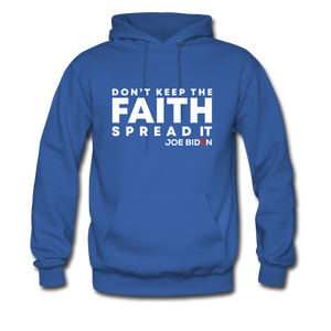 Open image in slideshow, Don't Keep the Faith Hoodie - royal blue