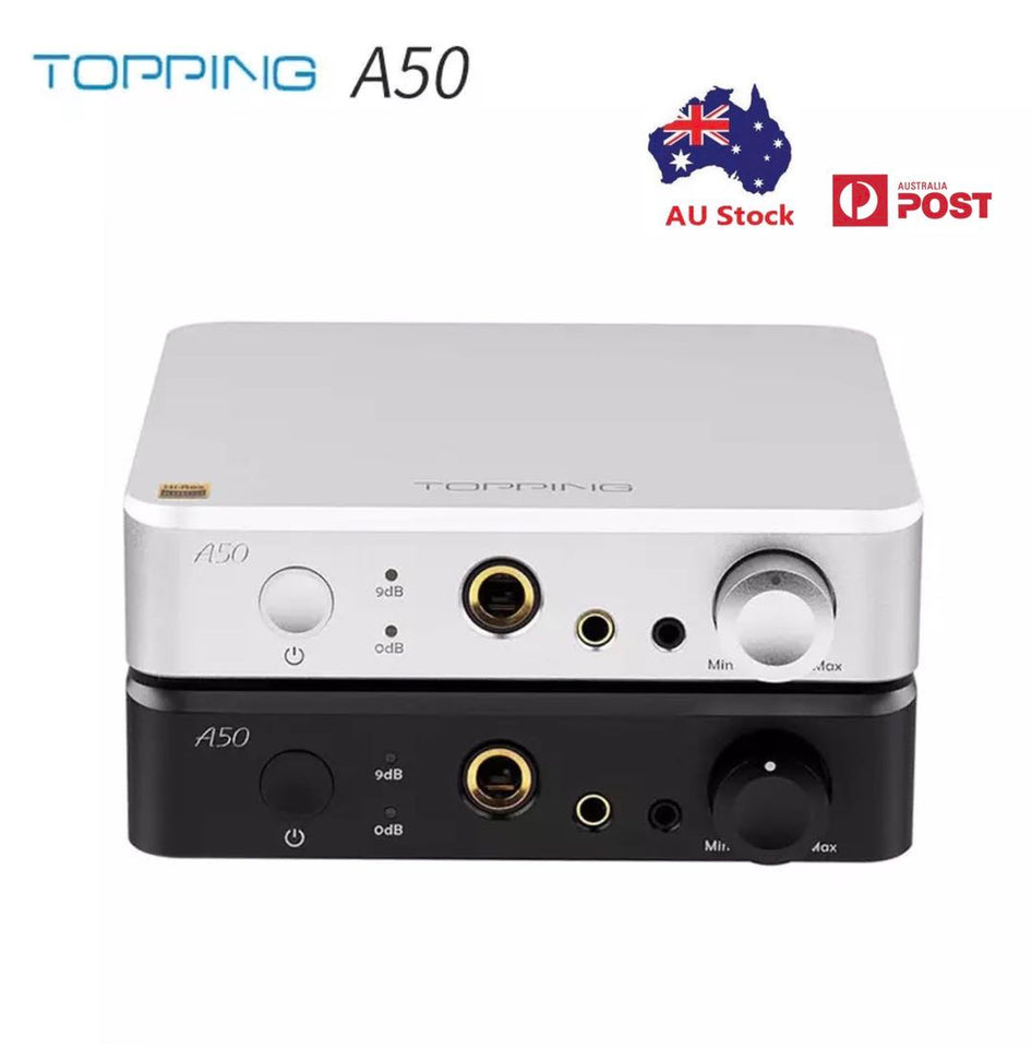Topping A50 HiFi Headphone Amplifier TPS7A33/47 15V LME49720 OP-AMPs Hi-Res Audio Balance Amplifier Portable Digital Amp