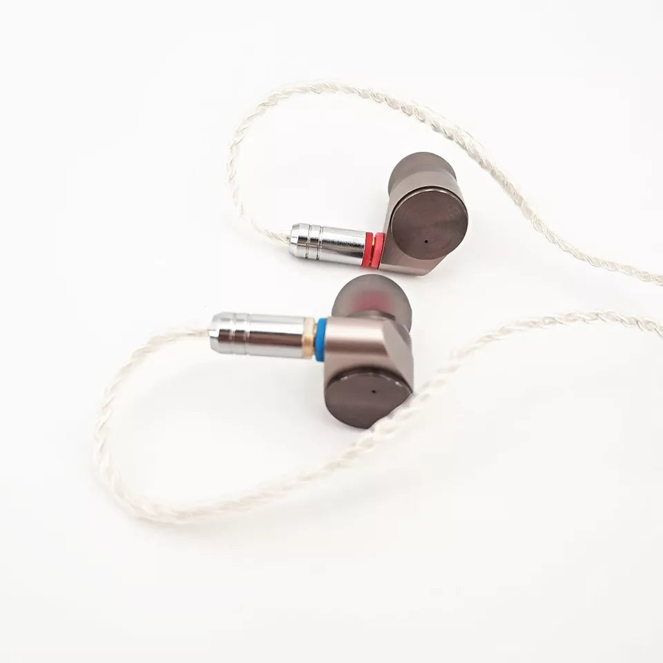 TINHIFI T2 In-Ear Double Dynamic Drive HIFI Bass Earphone with MMCX Detachable Cable