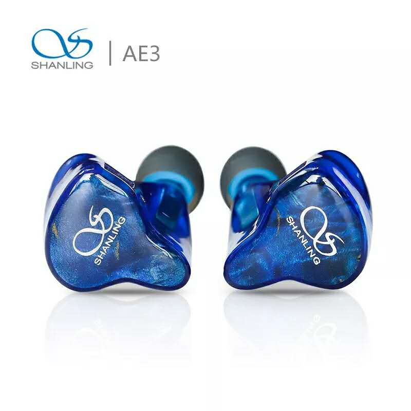 SHANLING AE3 Hi-Res Audio 3BA Sonion Balanced Armature Drivers In-ear Earphone IEM with 2Pin 0.78mm Connectors Detachable Cable