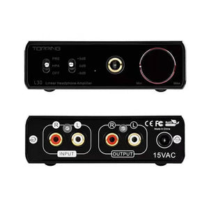 TOPPING L30 Headphone Amplifier HiFi 3 Step Gain Settings RCA Hi-Res Preamp for E30 DAC