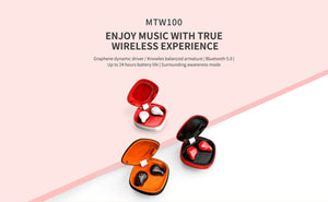 Shanling MTW100 Wireless Earphone TWS Bluetooth 5.0 IPX7 Waterproof Earphone