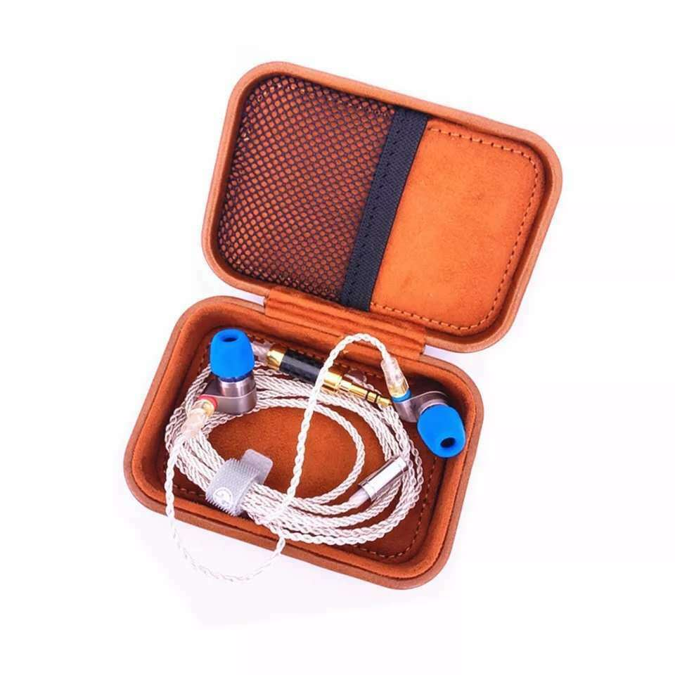 RE-STOCKING TINHIFI High-end Leather Magnetic Earphone Cable Case for TIN T2/T3