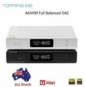 TOPPING D90 AK4499 AK4118 Full Balanced DAC Bluetooth 5.0 DSD512 Hi-Res Decoder