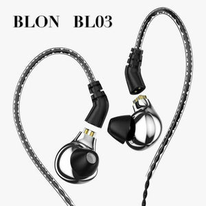 BLON BL-03 10mm Carbon Diaphragm Dynamic Driver HIFI In-Ear Earphone 0.78mm 2Pin