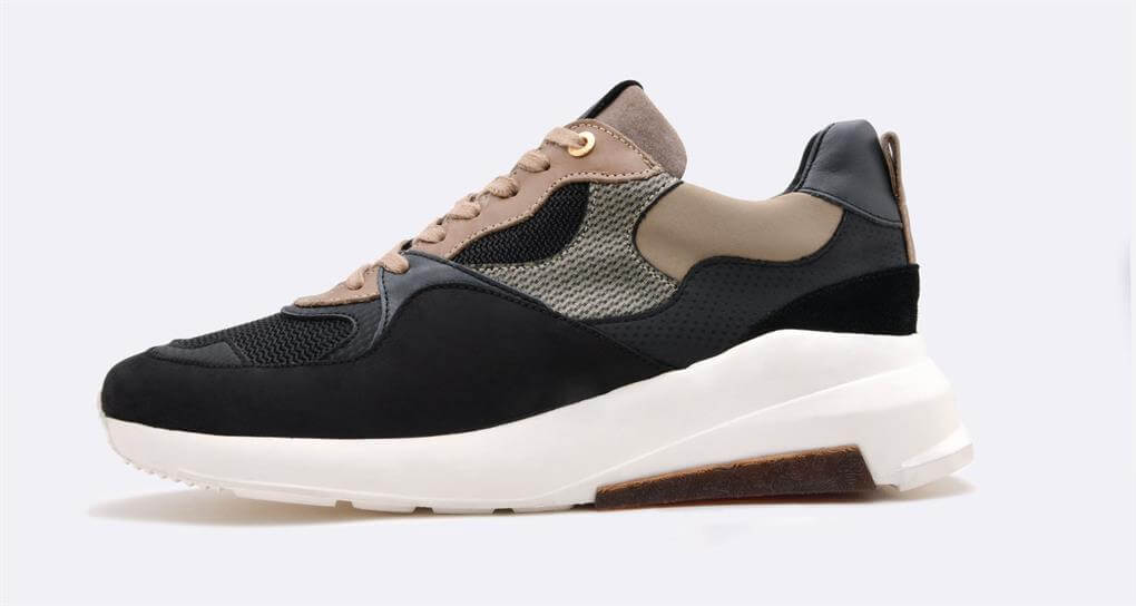 Android Homme 'MALIBU' Luxury Runner Black/Taupe/Carbon Fibre