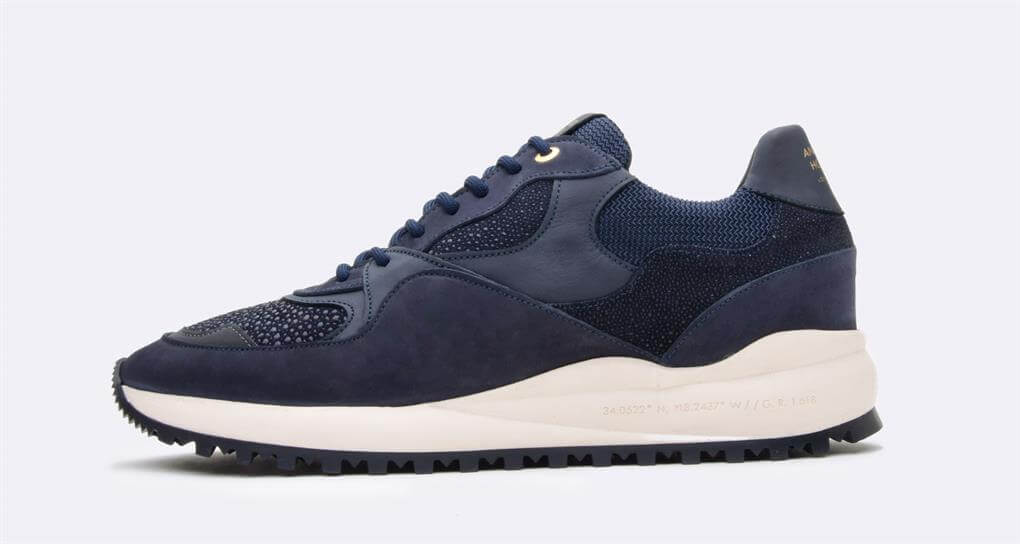 Android Homme 'SANTA MONICA' Luxury Runner Navy/Stingray/Suede