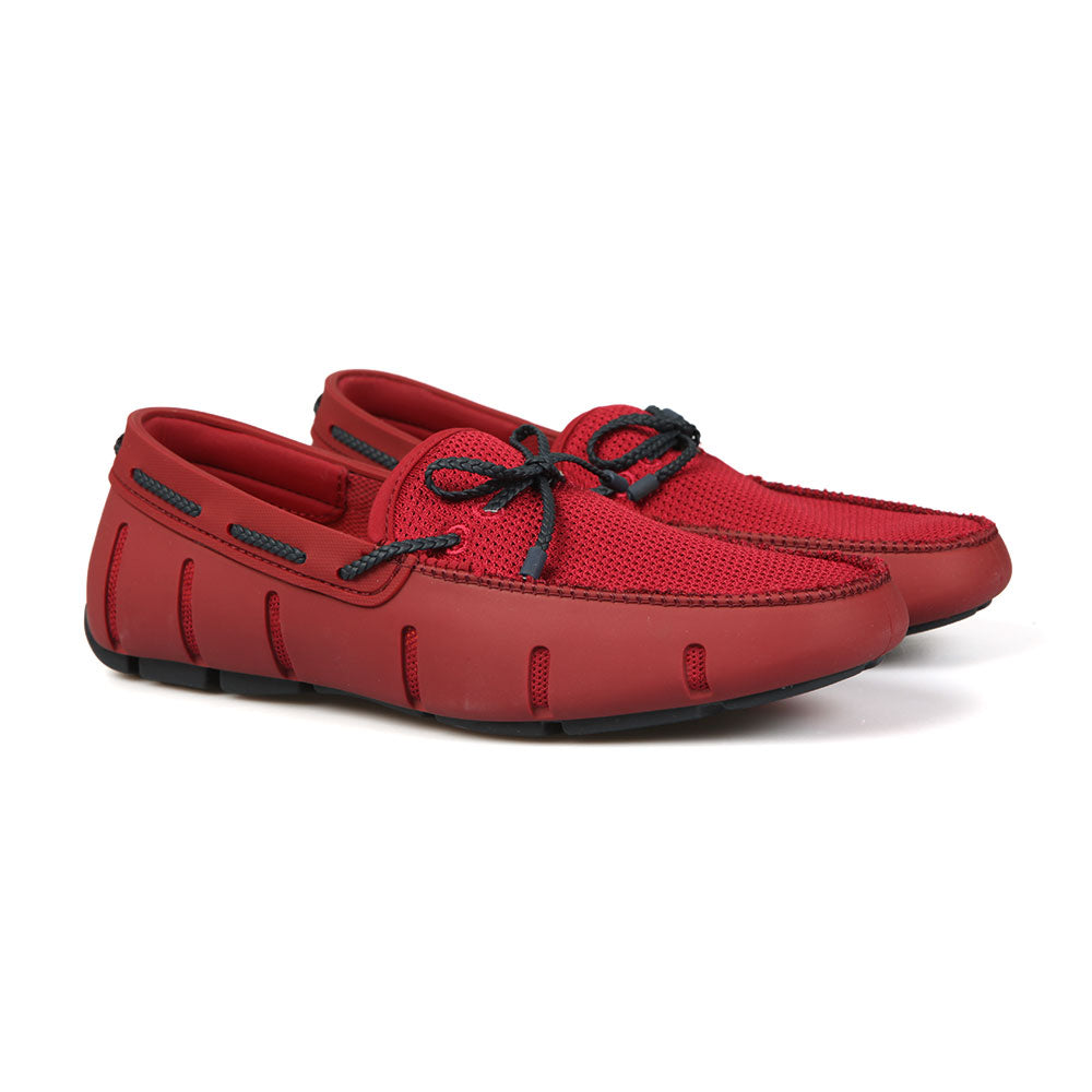 Swims Braided Lace Loafer Deep Red / Navy