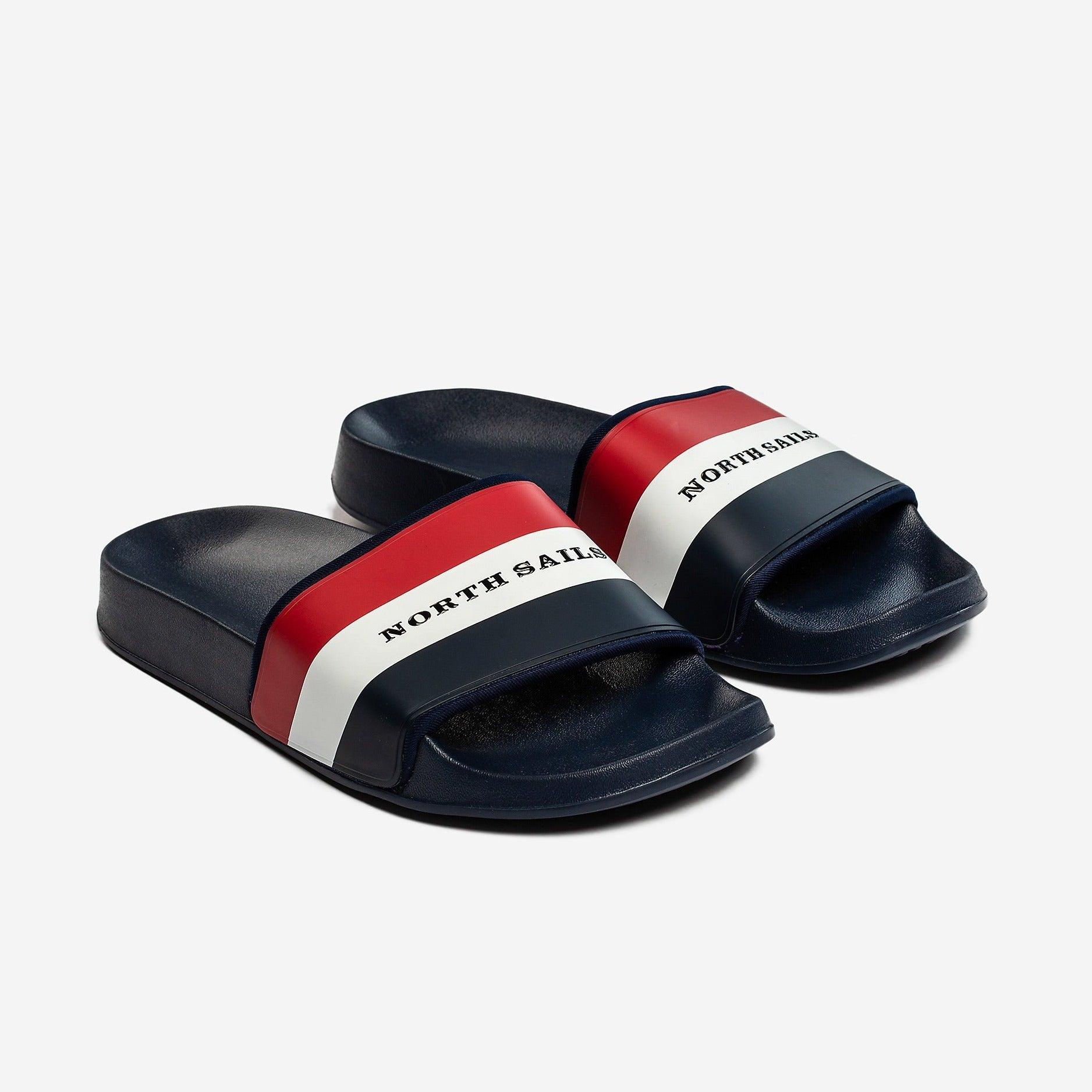 North Sails Pool Side Slides Red/ White/Navy