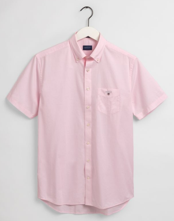 Gant Broadcloth Short Sleeve Shirt Pink