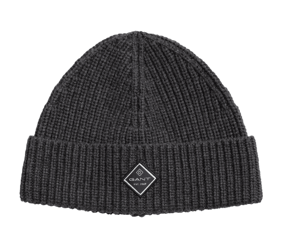 Gant Cotton Rib Beanie Charcoal