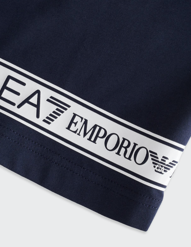 EA7 Taped Bottom T-Shirt Navy