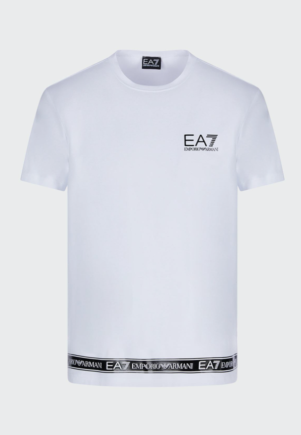 EA7 Taped Bottom T-Shirt White