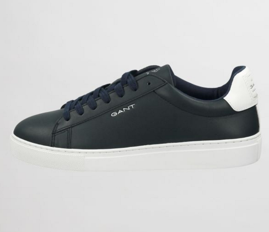 "Gant ""McJulien"" Leather Cupsole Trainer Navy"