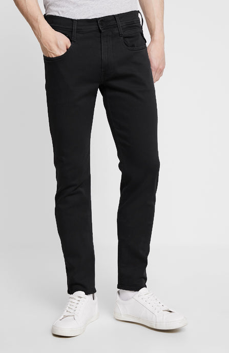 "Replay Anbass Slim Fit ""Colour Edition"" HYPERFLEX Jeans Black"