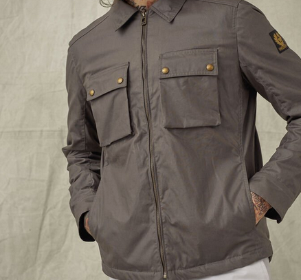 "Belstaff ""DUNSTALL"" 6oz Waxed Cotton Jacket Dusk Grey"