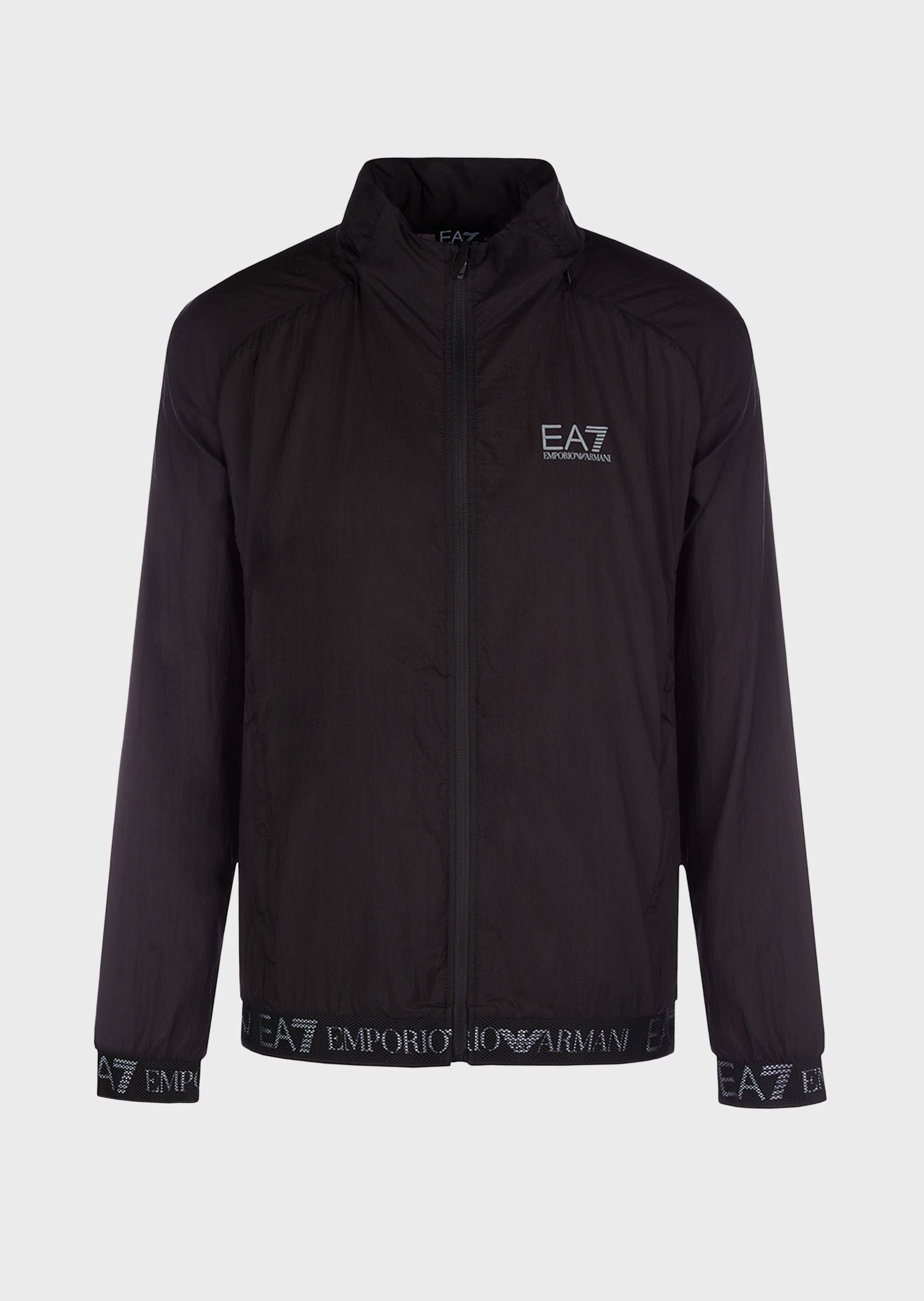EA7 Ultra Light Zip Through Jacket Black