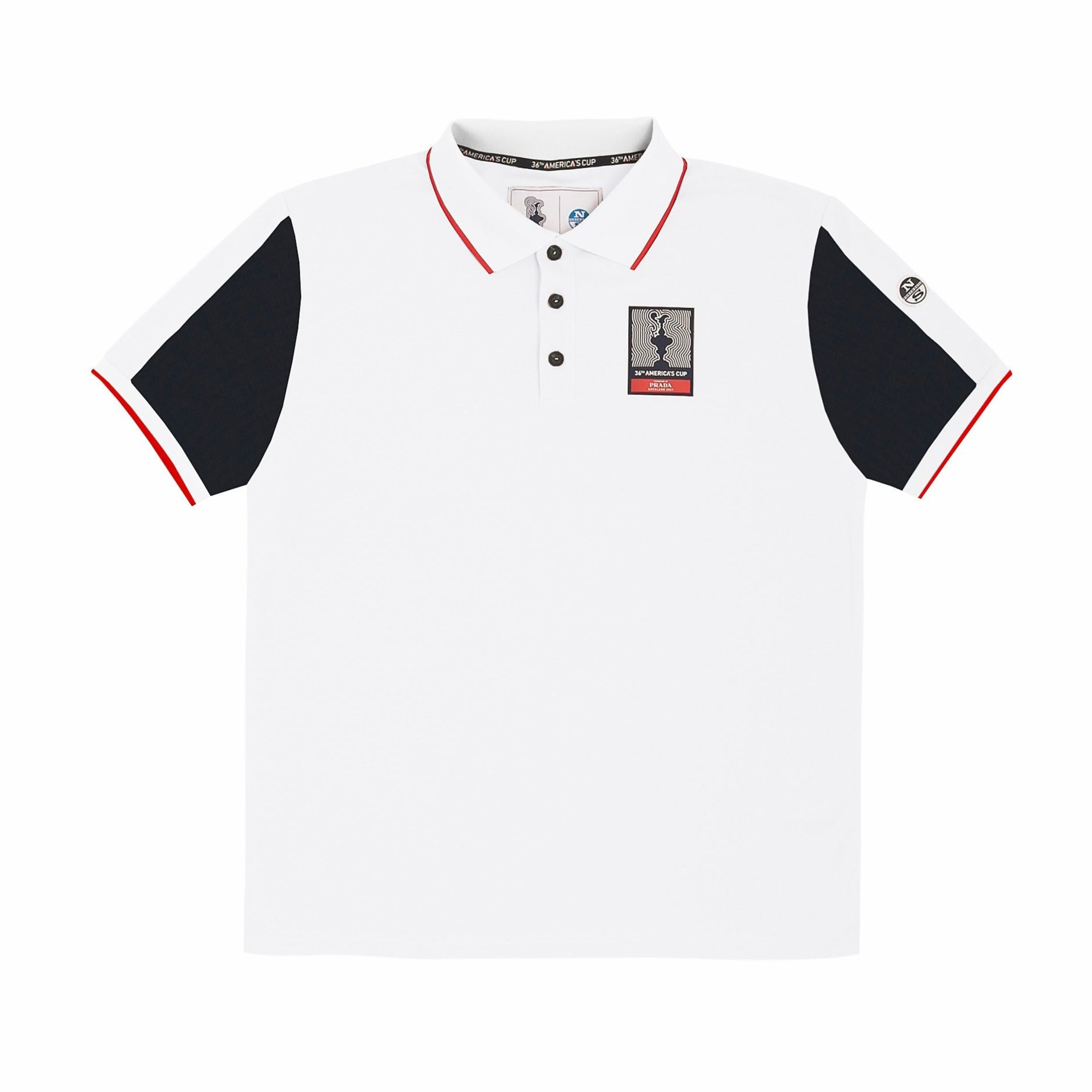 "North Sails America's Cup Presented by PRADA ""Auckland"" Polo Shirt White"