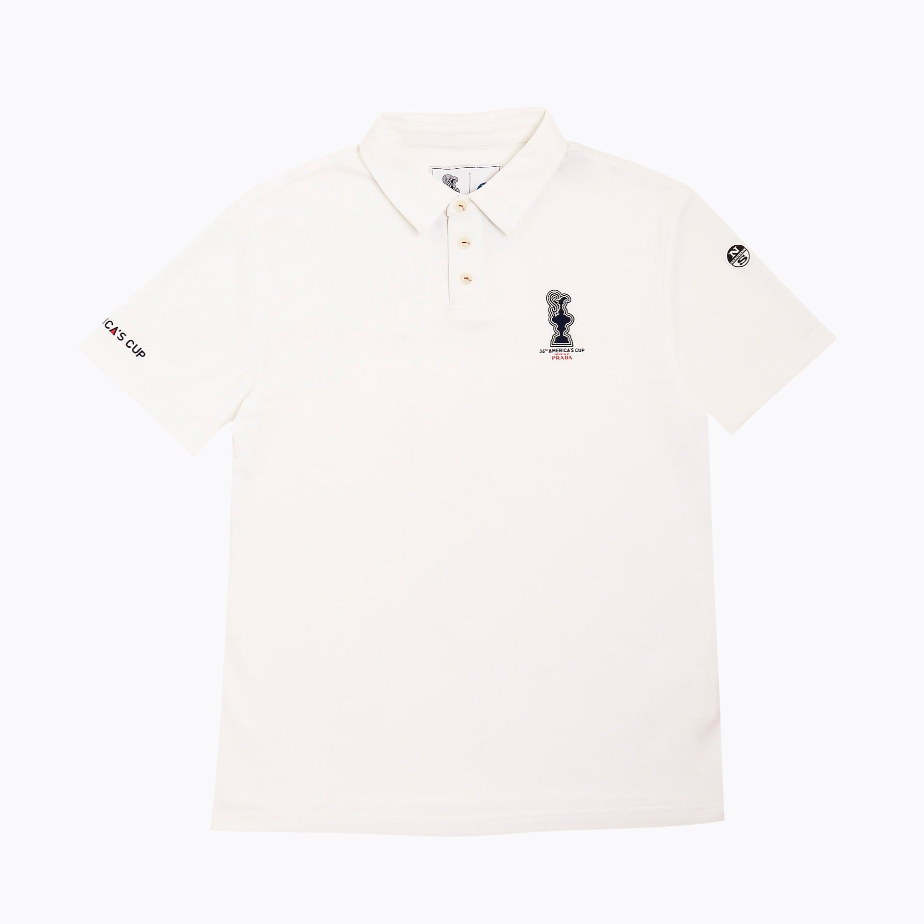 North Sails America's Cup Presented by PRADA Valencia Polo Shirt White
