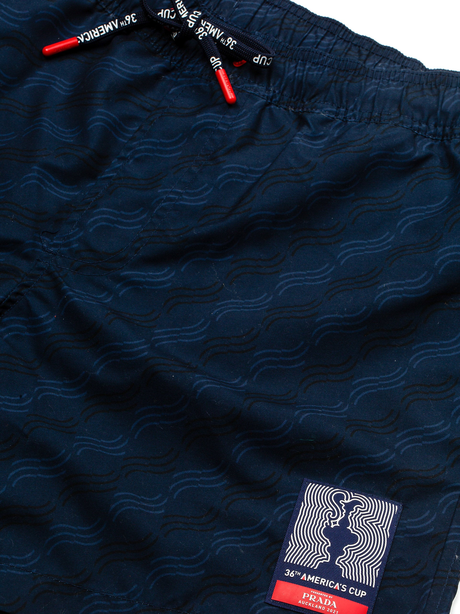 North Sails America's Cup Presented by PRADA Swim Shorts Navy 'Waves Print'