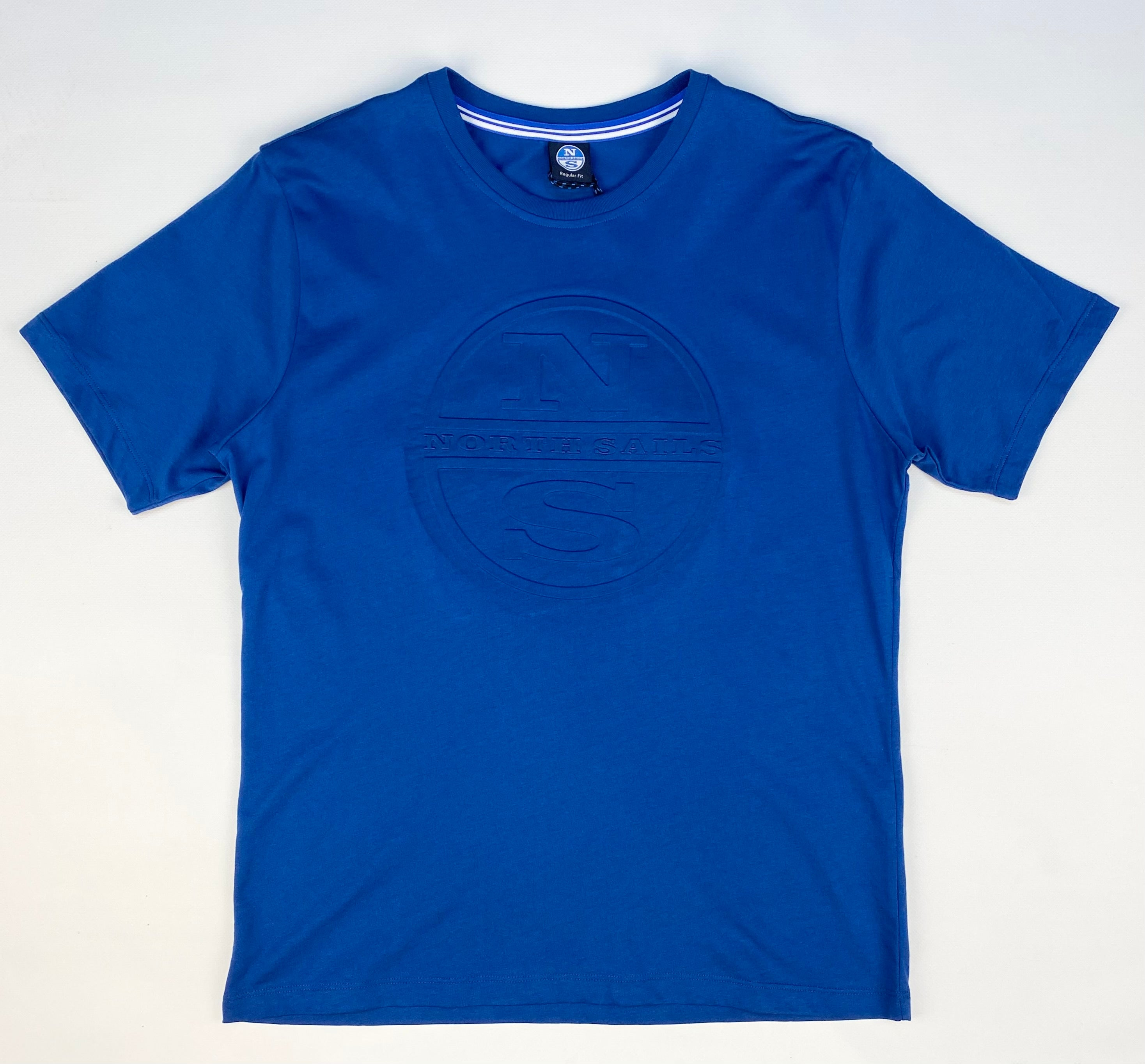 North Sails Embossed Logo Crew Neck T-Shirt Royal Blue
