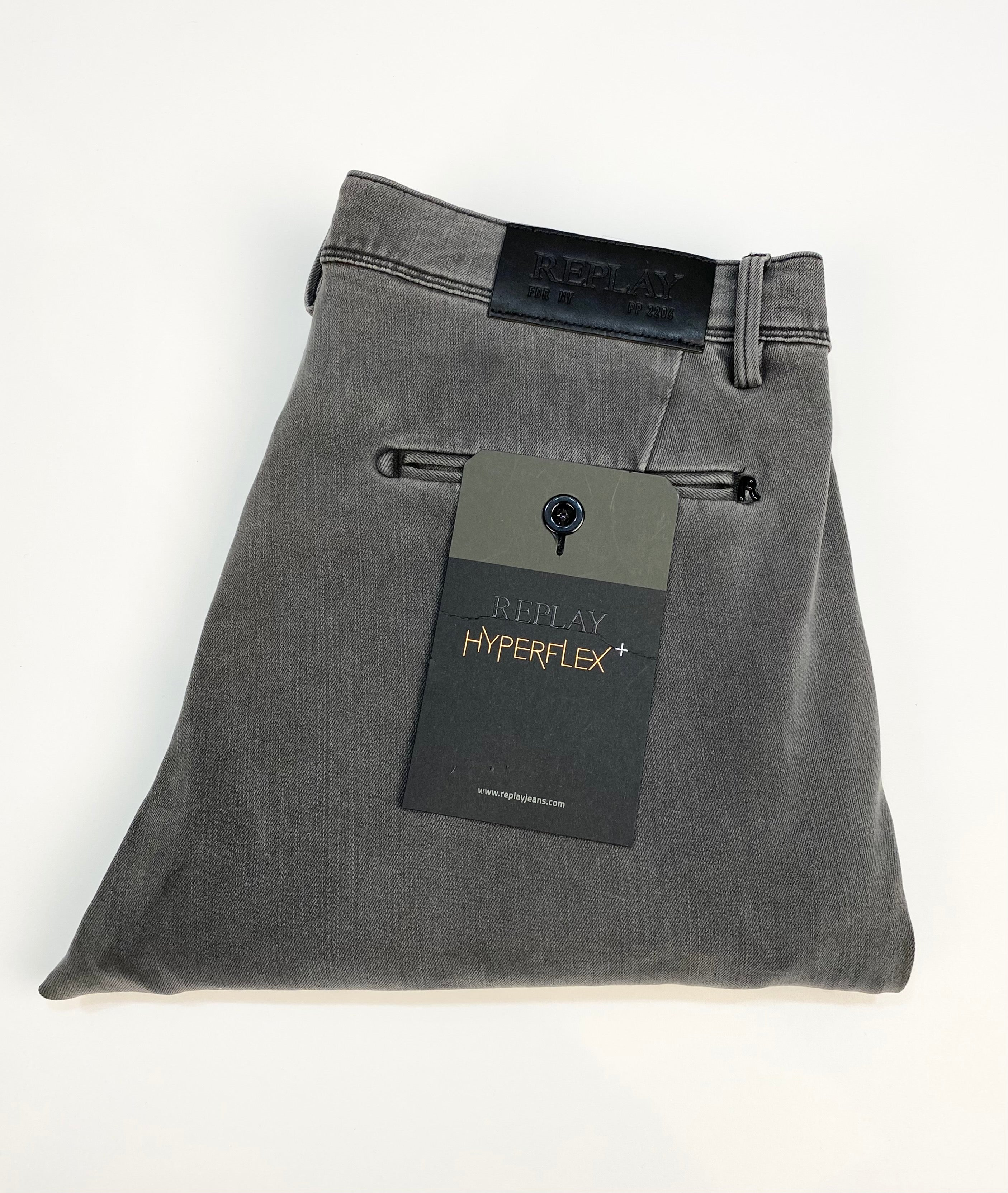 "Replay ""HYPERFLEX"" Zeumar Skinny Fit Chino Stone Grey"