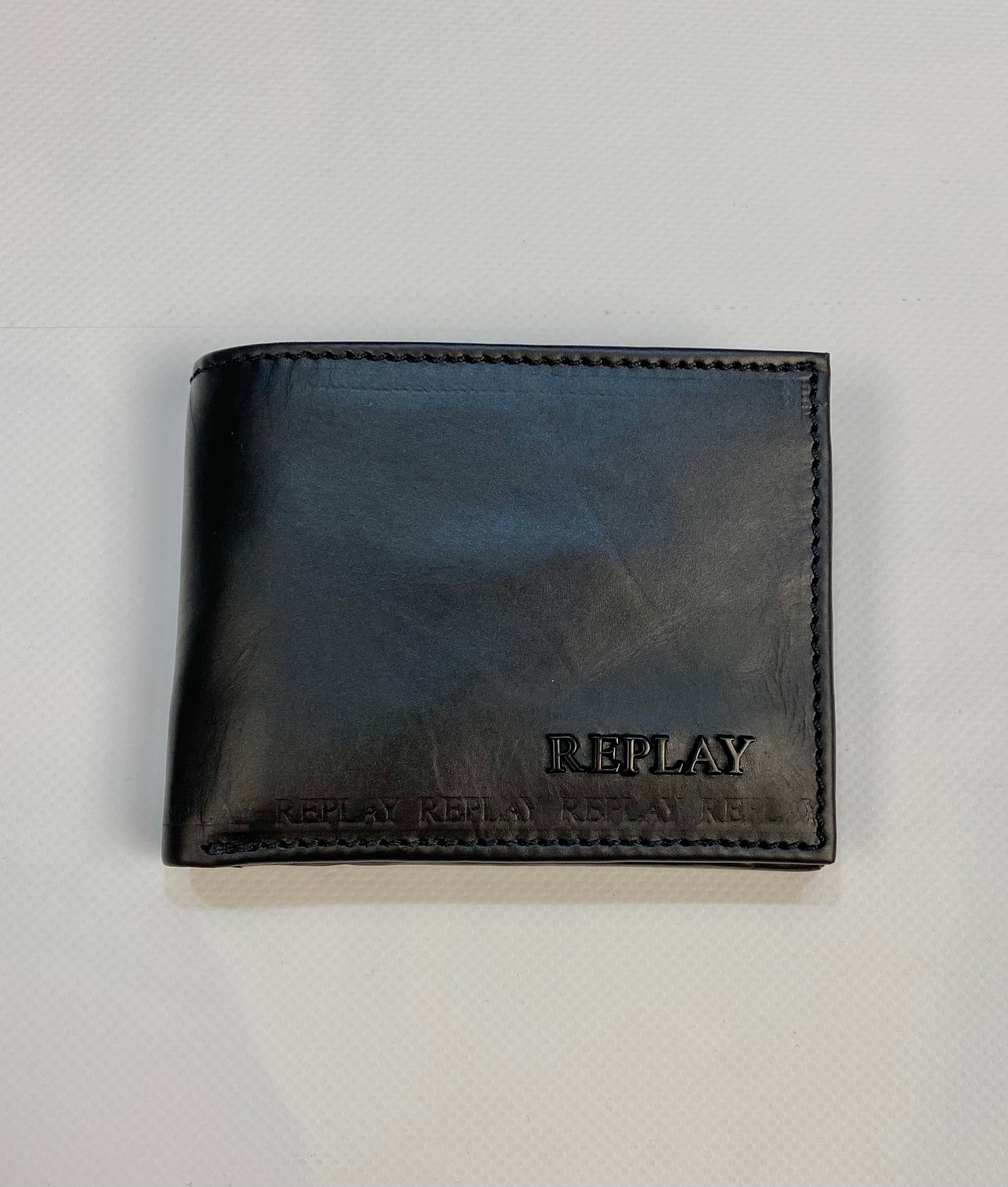 Replay Leather Wallet Black