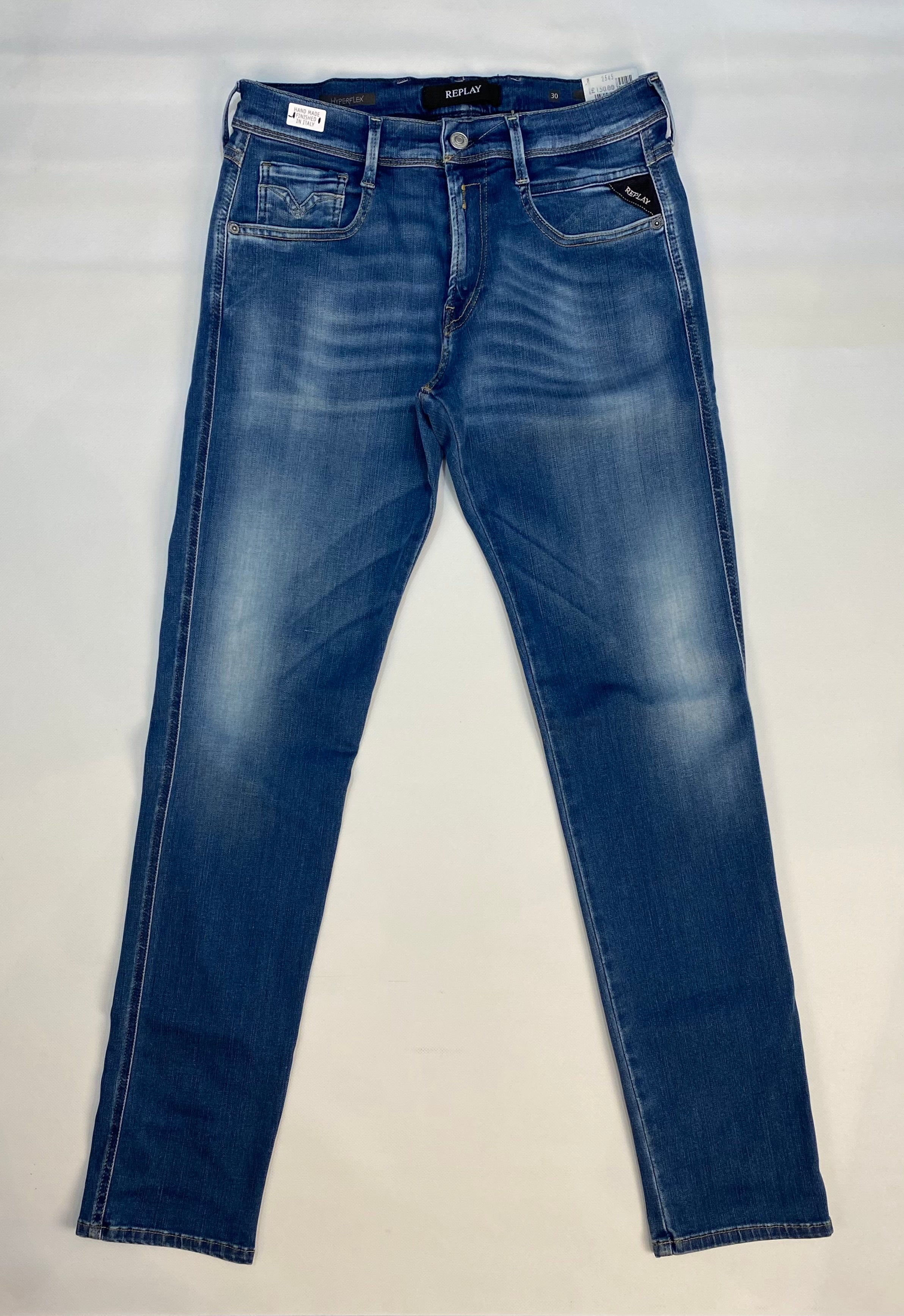 "Replay ""HYPERFLEX"" Grover BIO Edition Slim Stretch Jeans Lightwash"